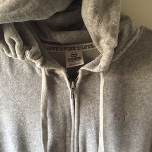 Gray terry cloth pink jacket